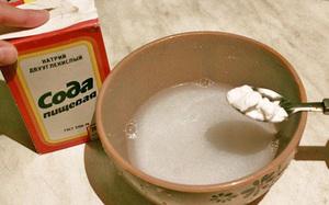 Использование соды для лечения горла