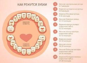Симптомы прорезания молочных зубов